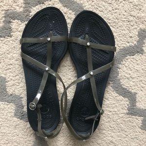 Crocs strappy sandals size 9